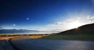 On the Qinghai Tibet Plateau Litang County Royalty Free Stock Images