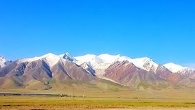 mountains on the qinghai-tibet plateau stock photography