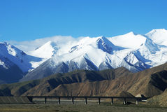 Qinghai-Tibet railway. Golmud road section Royalty Free Stock Images