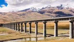 Qinghai-Tibet Railway. The Qinghai-Tibet Railway in Tibet, China Royalty Free Stock Image