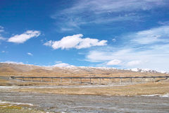 Qinghai-Tibet railway Royalty Free Stock Photo