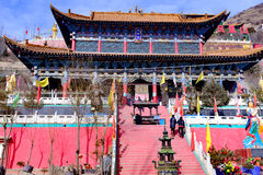 Qinghai xining: great kunlun nine day saint - MaLong phoenix mountain stock image