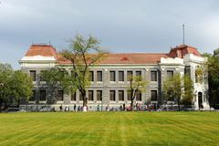 Qinghua school in Tsinghua University. This old building has been standing for a long time royalty free stock photo