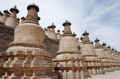 Qingtongxia 108 torn Arkivfoto