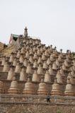 Qingtongxia 108 tower Royalty Free Stock Images