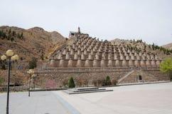 Qingtongxia 108 wierza Obraz Royalty Free
