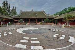 Qingyang-Klingeltempel Chengdu Sichuan China Lizenzfreie Stockfotografie