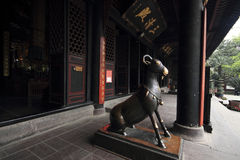 Qingyang slott, dörren Royaltyfri Fotografi