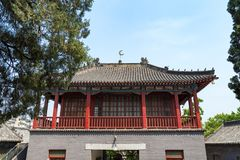 Qingzhen Si mosque in Jinan, China. Praying location for the local muslim community, it features unique chinese decorations in it`s interiors Stock Images