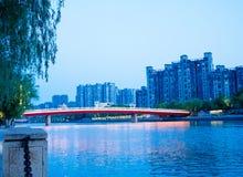 Qinhuai flod i Nanjing royaltyfri foto