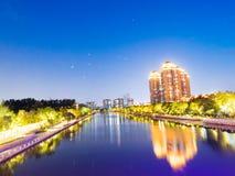 Qinhuai flod i Nanjing royaltyfria foton