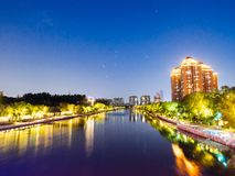 Qinhuai flod i Nanjing arkivfoton