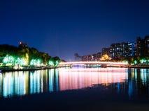 Qinhuai flod i Nanjing royaltyfri fotografi