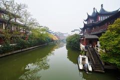 Qinhuai river buildings Royalty Free Stock Photography