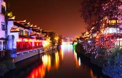 Qinhuai river in night Royalty Free Stock Image
