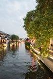 Qinhuai River night Stock Image