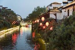 Qinhuai River night Royalty Free Stock Image