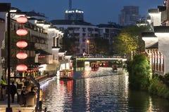 Qinhuai River night Stock Photography