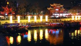 Qinhuai riverside Royalty Free Stock Photos
