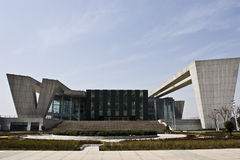 Qintai Great Theater. Looks magnificent under the blue sky in a sunshiny day Stock Images