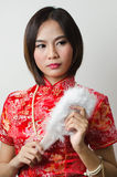 Qipao Chinese Girl in Casual Style Stock Photos