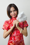 Qipao Chinese Girl in Casual Style Royalty Free Stock Images