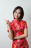 Qipao Chinese Girl in Casual Style Royalty Free Stock Image