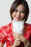 Qipao Chinese Girl in Casual Style Royalty Free Stock Photos