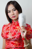 Qipao Chinese Girl in Casual Style Stock Photography