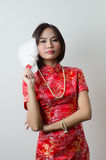 Qipao Chinese Girl in Casual Style Stock Images