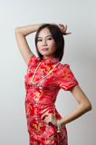 Qipao Chinese Girl in Casual Style Royalty Free Stock Photo