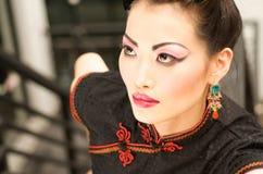 Qipao Model Royalty Free Stock Photography