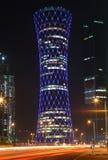 QIPCO iluminujący Wierza, Doha Fotografia Stock