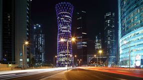 QIPCO Tower in Doha, Qatar Stock Photo