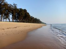 Qirem plaża, Goa obraz stock