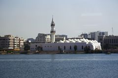 Qishas moské i jeddah, Saudiarabien Arkivbild