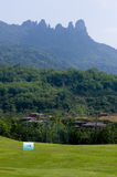 The natural scenery of hainan island of China. QiXian ridge mountain golf course Stock Photography