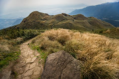 Qixing Mountain at Yangmingshan National Park Stock Image