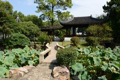 Qiyuan garden in Suzhou Royalty Free Stock Photos