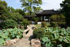 Qiyuan-Garten in Suzhou lizenzfreie stockfotos