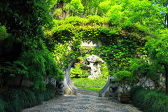 QiYuan-Garten in Suzhou-Porzellan Lizenzfreies Stockbild