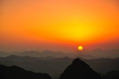 Qiyun mountain sunset Royalty Free Stock Photo