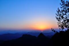 Qiyun mountain sunset Royalty Free Stock Image