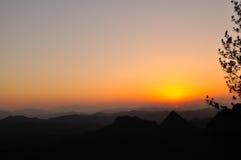 Qiyun mountain sunset Royalty Free Stock Photos