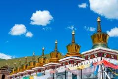 QLIAN, CHINA - Jul 3 2014: Pagoda at A rig Monastery(Arou Dasi). Stock Photos