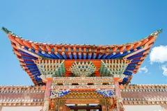 QLIAN, CHINA - Jul 3 2014: A rig Monastery(Arou Dasi). a famous Stock Images