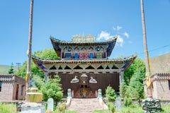 QLIAN, CHINA - Jul 3 2014: A rig Monastery(Arou Dasi). a famous Royalty Free Stock Images