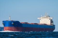 Bulk Carrier en route to Seattle Royalty Free Stock Photo