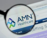 QMilan, Ιταλία - 10 Αυγούστου 2017: Ιστοχώρος υπηρεσιών υγειονομικής περίθαλψης AMN Στοκ φωτογραφίες με δικαίωμα ελεύθερης χρήσης