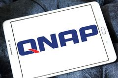 QNAP Systems company logo. Logo of QNAP Systems company on samsung tablet . QNAP is a Taiwanese corporation that specializes in providing networked solutions for Royalty Free Stock Images